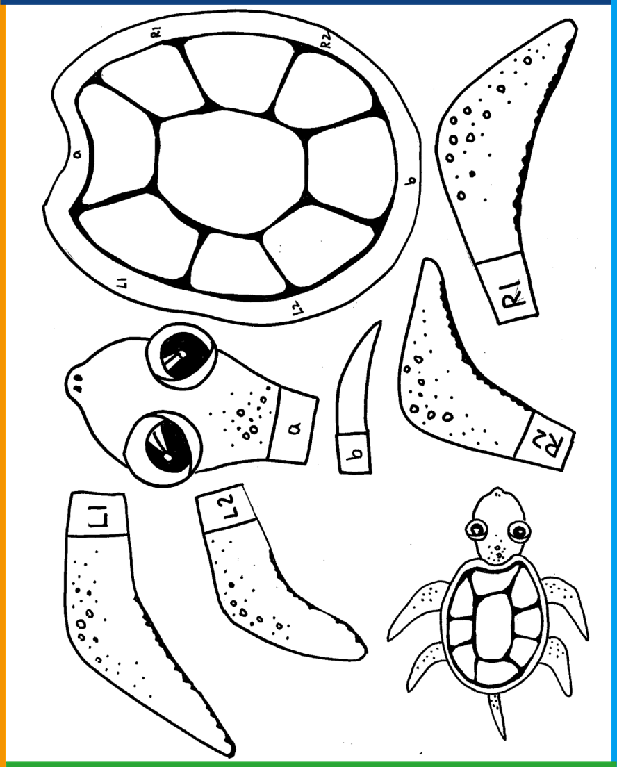 Crab Turtle Cut out-1485841573